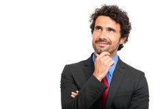 Portrait songeur d'homme d'affaires mûres Photo stock