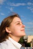 Portrait am sonnigen Tag Stockbilder