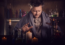Portrait of a sorcerer. Indoor royalty free stock photos