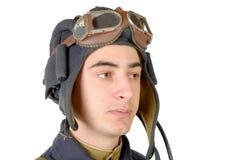 Portrait of the soviet tank driver Stock Image