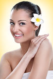 Portrait of spa beauty woman Royalty Free Stock Image