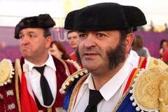 Portrait spanish football fan in torrero costume Royalty Free Stock Photo