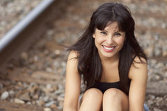 Portrait Of A Spanish Woman Smiling Royalty Free Stock Photos