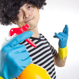 Portrait spay man Stock Photography