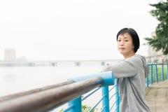 Sport mature Asian woman Stock Photography