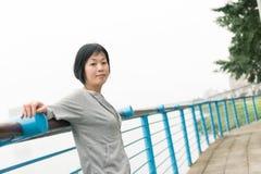 Sport mature Asian woman Stock Photos