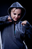Portrait of a  sporting woman Stock Images
