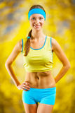 Portrait of a sports girl Royalty Free Stock Photography