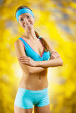 Portrait of sports girl Royalty Free Stock Images