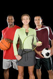 Portrait of sports people Royalty Free Stock Photos
