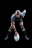 Portrait of sportsman playing rugby Stock Images