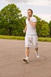 Portrait of sportsman runs Royalty Free Stock Photo