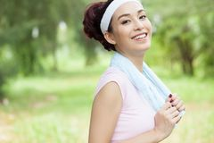 Portrait of sportswoman Stock Images