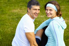 Portrait of sporty couple Stock Photography