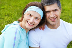 Portrait of sporty couple Royalty Free Stock Image