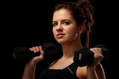 Portrait of sporty girl Stock Images