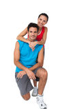 Portrait of a sporty happy young couple Royalty Free Stock Photos