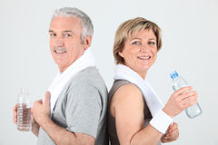 Portrait of a sporty senior couple Royalty Free Stock Photography