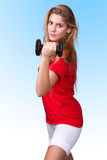 Portrait of a sporty woman Royalty Free Stock Image