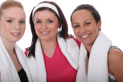 Portrait of sporty women Royalty Free Stock Photography