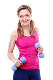 Portrait of a sporty young woman Royalty Free Stock Images
