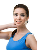 Portrait of a sporty young woman Stock Images