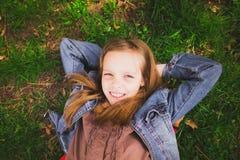 Portrait of spring girl Stock Photos
