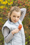 Portrait of a spring girl Royalty Free Stock Image