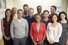 Portrait Of Staff In Modern Multi-Ethnic Office Royalty Free Stock Photo
