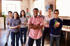 Portrait Of Staff Standing In Modern Design Office Royalty Free Stock Photography