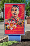 Portrait of Stalin in the center of Donetsk. Ukraine Royalty Free Stock Images