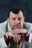 Portrait standing mafia boss showing thumbs Royalty Free Stock Photo