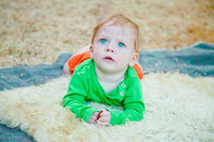 Portrait of startled baby Royalty Free Stock Photography