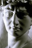 Portrait Statue. Ancient Roman / Modified Black and White / Suggestive Lights Royalty Free Stock Photography