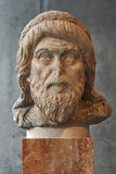 Portrait statue maybe of philosopher Plutarch in Athens. Royalty Free Stock Photography
