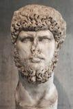 Portrait statue of the Rome emperor Lucius Verus. Stock Images