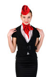 Portrait of stewardess Royalty Free Stock Images