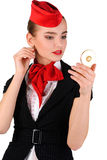 Portrait of stewardess Stock Image