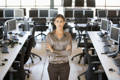 Portrait Of A Stock Trader Stock Images