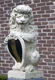 Portrait of a stone lion Stock Image