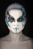 Portrait with streaks of paint. Royalty Free Stock Images