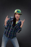 Portrait of street dancer Royalty Free Stock Images