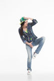 Portrait of street dancer Royalty Free Stock Photos