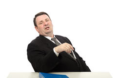 Portrait of stress interviewer Royalty Free Stock Photography