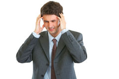 Portrait of stressed business man Stock Image