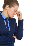 Portrait of stressed business woman Royalty Free Stock Images