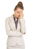 Portrait of stressed business woman Royalty Free Stock Photo