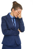 Portrait of stressed business woman Royalty Free Stock Image