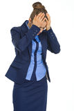Portrait of stressed business woman Stock Photos