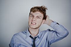 Portrait of stressed businessman Stock Photography